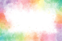Colorful Rainbow Watercolor Sp...