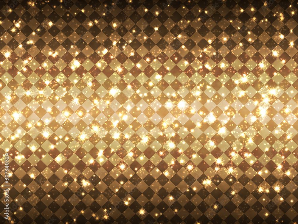 Fototapeta Gorgeous light background_gold diamond