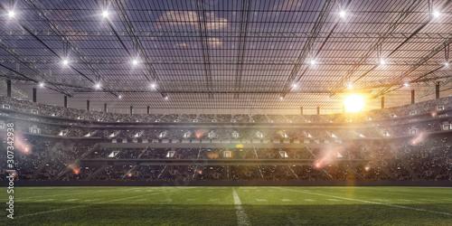 American football stadium.