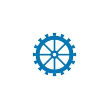 Water Mill Logo Vector Icon Concept Illustration Design