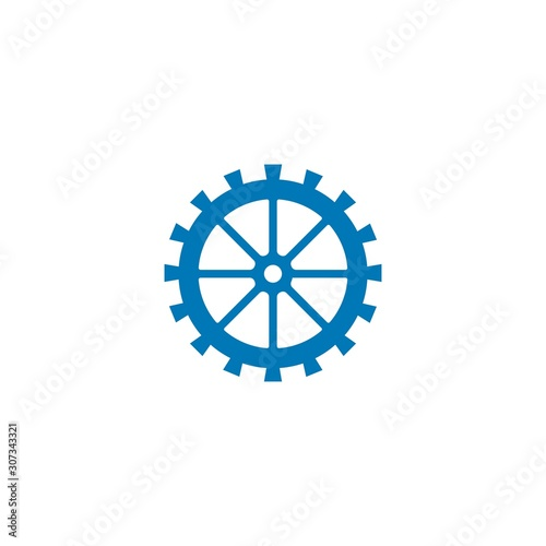 Fotografia Water mill logo vector icon concept illustration design