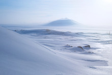 Winter Arctic Landscape With S...
