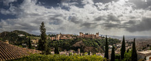 Panoramic View Of The Alhambra...