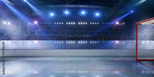 Ice hockey stadium. Canvas Print