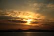 canvas print picture - winterlicher  sonnenuntergang am mittelmeer