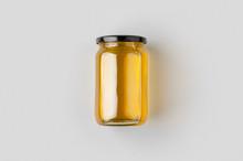 Honey Jar Mockup.