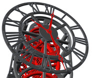 Clock Mechanism Sketch 3d Illu...