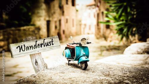 Street Sign to Wanderlust Canvas Print