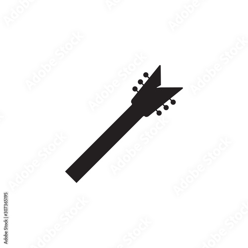 Guitar neck icon design template vector isolated Canvas Print