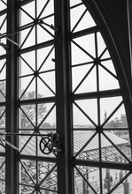 View From A Window On Ellis Island To The Statue Of Liberty New York