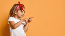 Little Kid Girl In White Blank...
