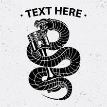 Snake And Piston Shirt Design