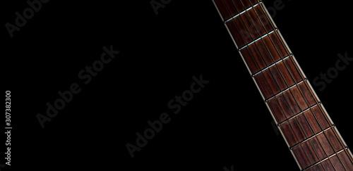 Guitar neck on black background - 307382300