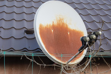 Old And Rusty Satellite Dish. ...