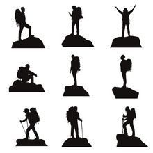Hiker Silhouettes