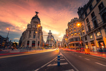 Gran Via, Main Street Of Madri...