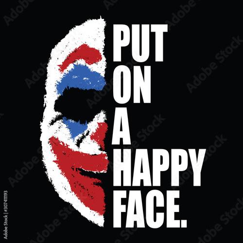 Joker Illustration: Put on a happy face Canvas Print