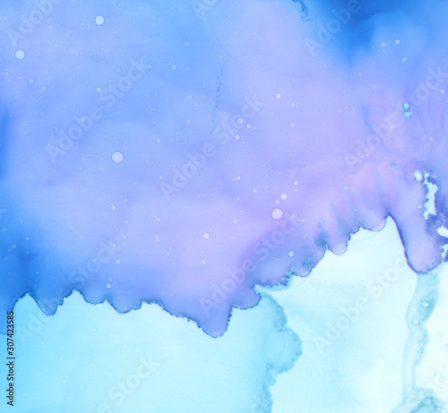 Art Abstract paint blots background. Alcohol ink colors. Marble