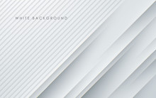 Abstract Light Silver Background Vector. Modern Diagonal White Background.