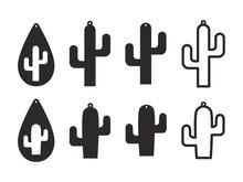 Cactus Earrings Templates. Cac...