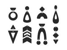 Geometric Earring Templates. B...