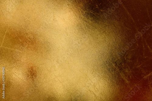 Obraz Gold leather with small hatch pattern - fototapety do salonu
