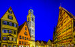 canvas print picture - old town of dinkelsbuhl - germany