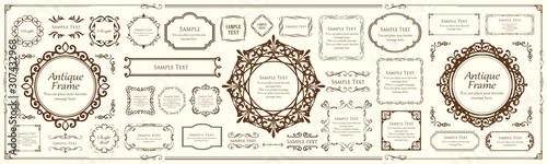 Fotografía  高級感のあるフレームデザイン カードデザイン アンティーク ラグジュリー ビンテージ