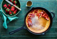 Skillet  Pancake With Strawber...