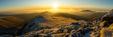 Sunrise Panorama Over The Snow...