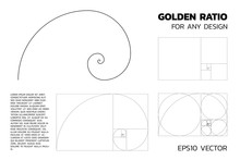 Golden Ratio - Various Types. For Any Designing Such As Graphic Design Or Visual Art. Vector Illustration With Layers.