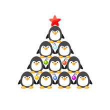 Vector New Year Tree From Cute...