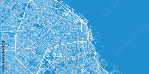 Fotomural  Urban vector city map of Buenos Aires, Argentina