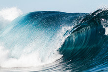 Close Up Shoot Of A Wave Break...