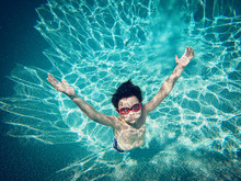 Underwater Image Of Young Boy ...