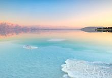 Salt Deposits In The Dead Sea ...