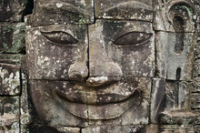 Carved Face At Angkor Wat, Maj...