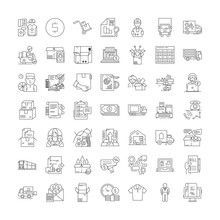 Wholesale Company Line Icons, ...