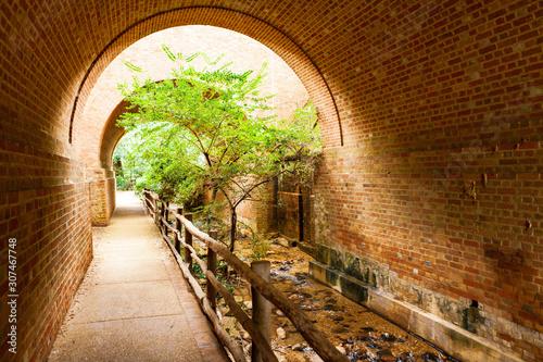 Fotografia The Pathway Under Bridge Arch at Williamsburg