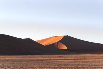Dunes of Namib desert during the sunrise.