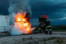 Fireman Teacher Learning How Stop Fire