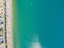 Aerial View Of People Enjoying...