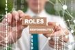 Leinwanddruck Bild - Roles and Responsibilities Business Concept. Duty Team Work Responsibility Inspiration Role Success Job.