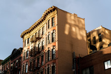 Reflected Sunlight On An Apartment Building In New York City