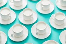 Composition Of Cups With Milks...