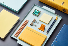 Creative Layout Of Colorful Supplies