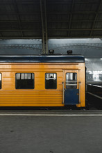 A Train Waiting In The Russian Railway Station