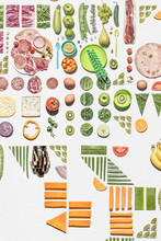 Real Fresh Food Colorful Collage