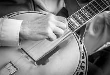 Black And White Banjo