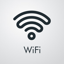 Símbolo WiFi Con Ondas Unidas...